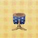 blue polka shorts