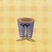 gray-stripe pants