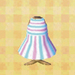 pastel-stripe dress