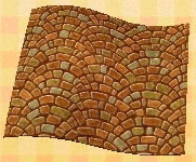 arched brick floor