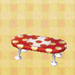 polka-dot low table