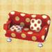 polka-dot sofa