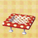 polka-dot table