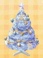 white festive tree