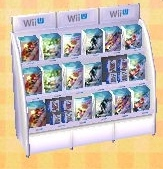 Wii U game shelf