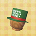 green new year's hat