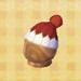 red pom-pom hat