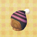 stripe knit cap