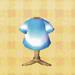 blue tie-dye tee