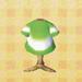 green tie-dye tee