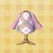 pink argyle shirt