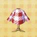 red-check shirt