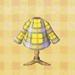 yellow tartan shirt